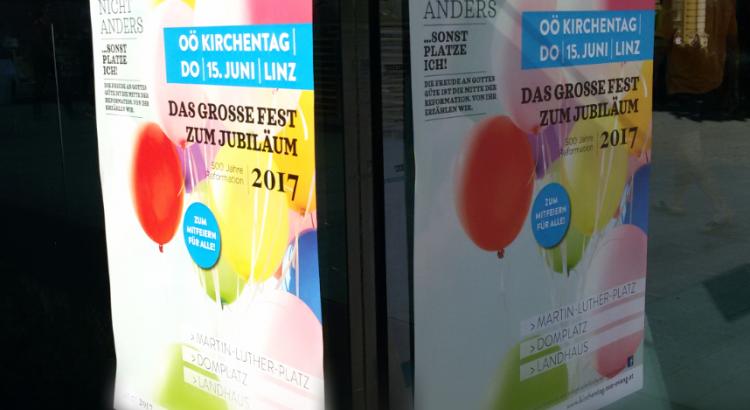 Plakat OÖ Kirchentag in Linz 2017