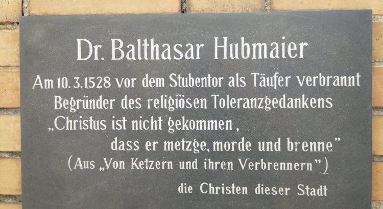 Gedenktafel Dr. Balthasar Hubmaier